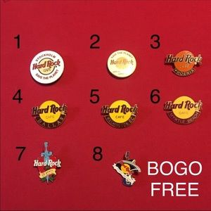 SALE 5/$25 Hard Rock Cafe memorabilia pins
